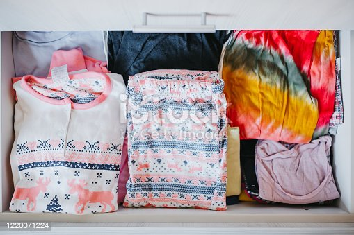 1164403364 istock photo Pajamas in a drawer 1220071224