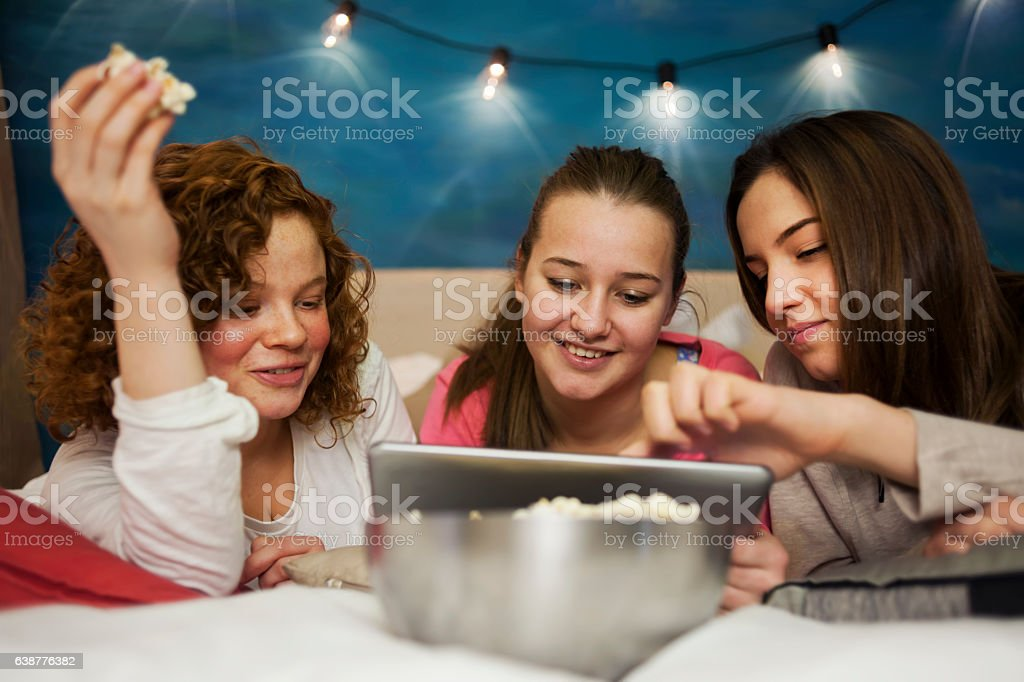 Pajamas party stock photo