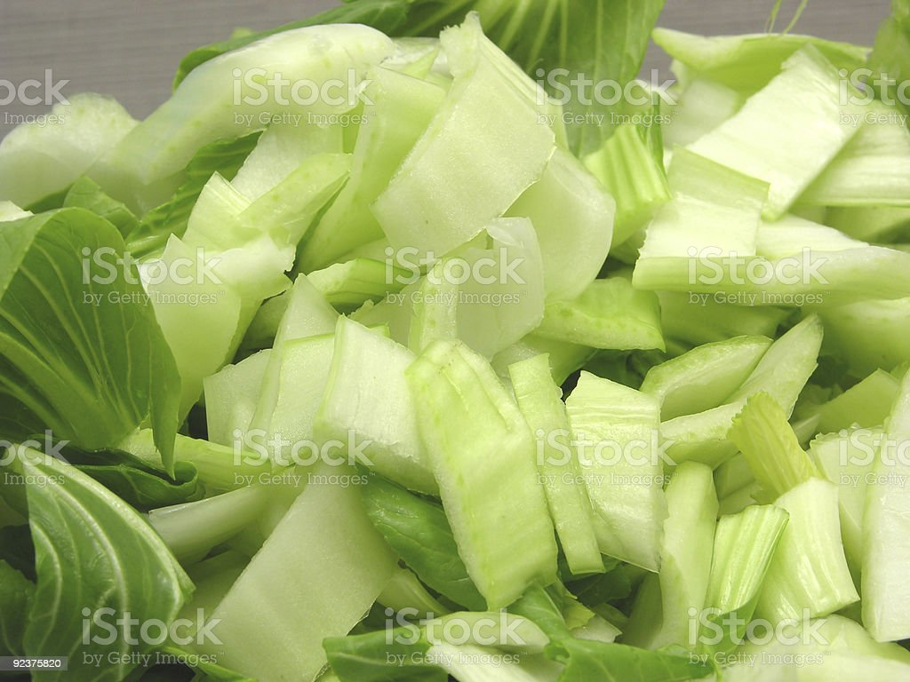 Pak choi cutted on gray background royalty-free stock photo