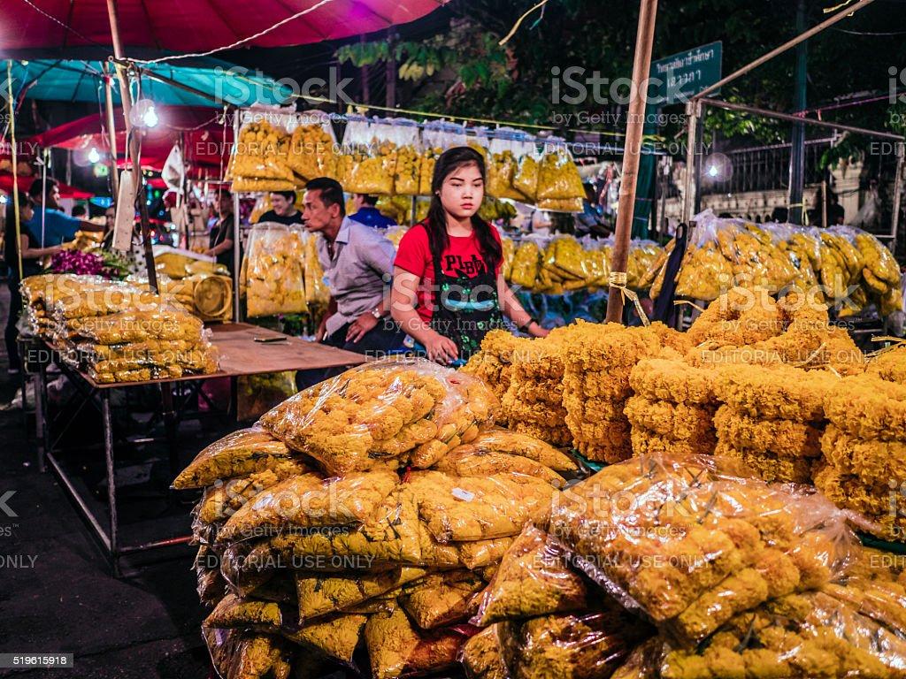 Pak Khlong Talat flower market Bangkok Thailand stock photo