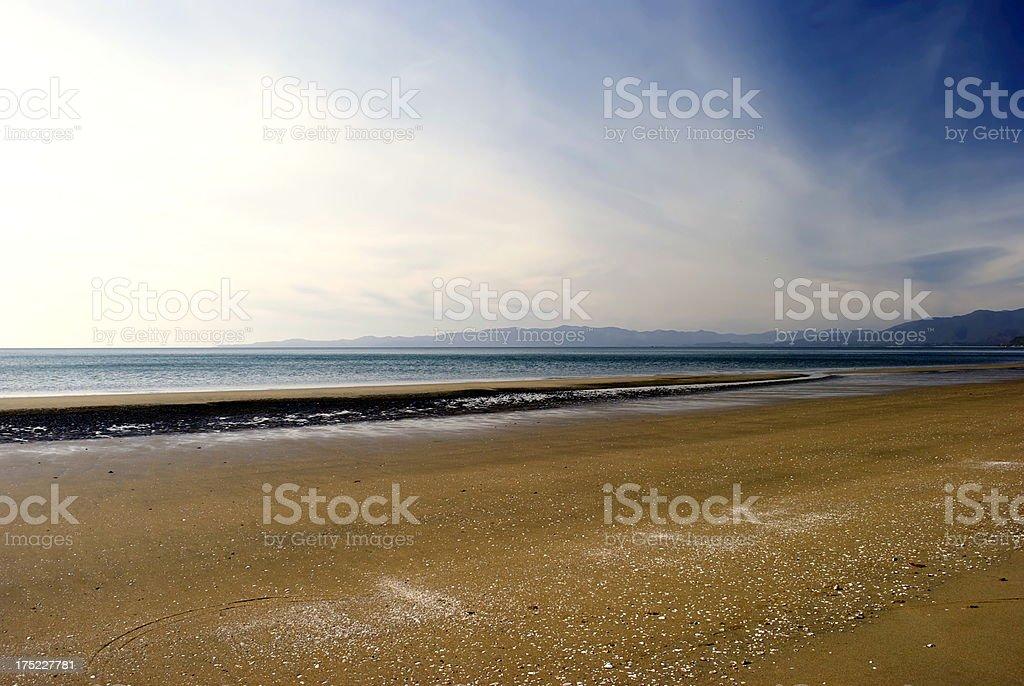 Pakawau Beach, Collingwood, Golden Bay, New Zealand royalty-free stock photo