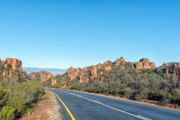 Pakhuis passar nas montanhas de Cederberg - foto de acervo