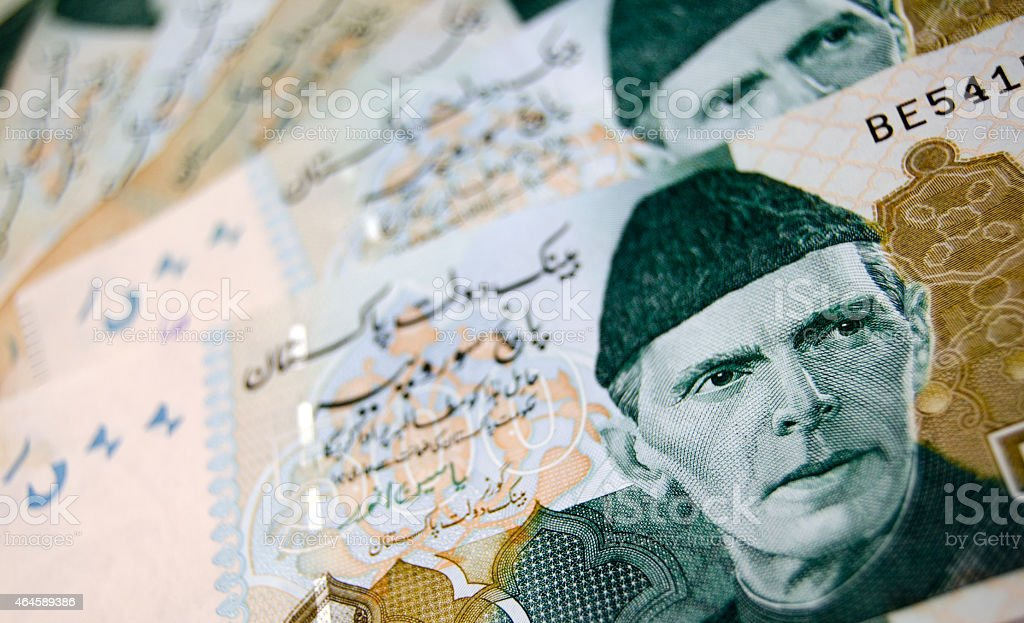 Pakistan Banknotes stock photo