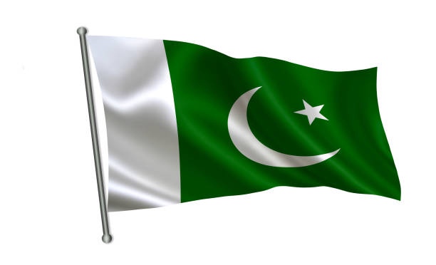 """pakistan flag. a series of """"flags of the world.""""  ( the country - pakistan flag ) - pakistani flag stock photos and pictures"""