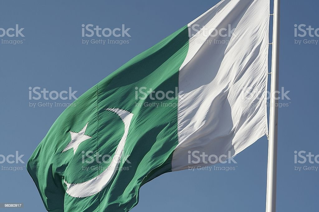 Bandiera del Pakistan foto stock royalty-free