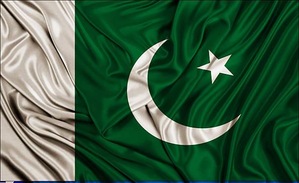pakistan flag - silk texture - pakistani flag stock photos and pictures