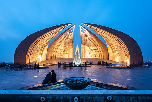 Pakistan Monument Islamabad The Pakistan Monument is a landmark in Islamabad, which represents four provinces of Pakistan. monument stock pictures, royalty-free photos & images