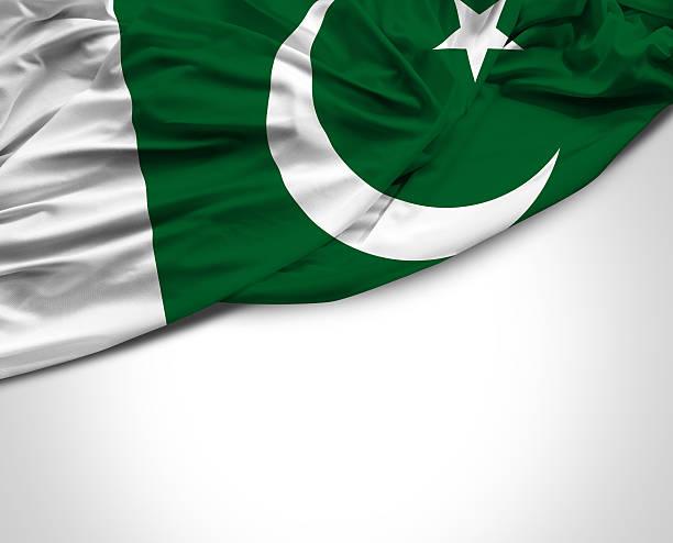 pakistan waving flag on white background - pakistani flag stock photos and pictures