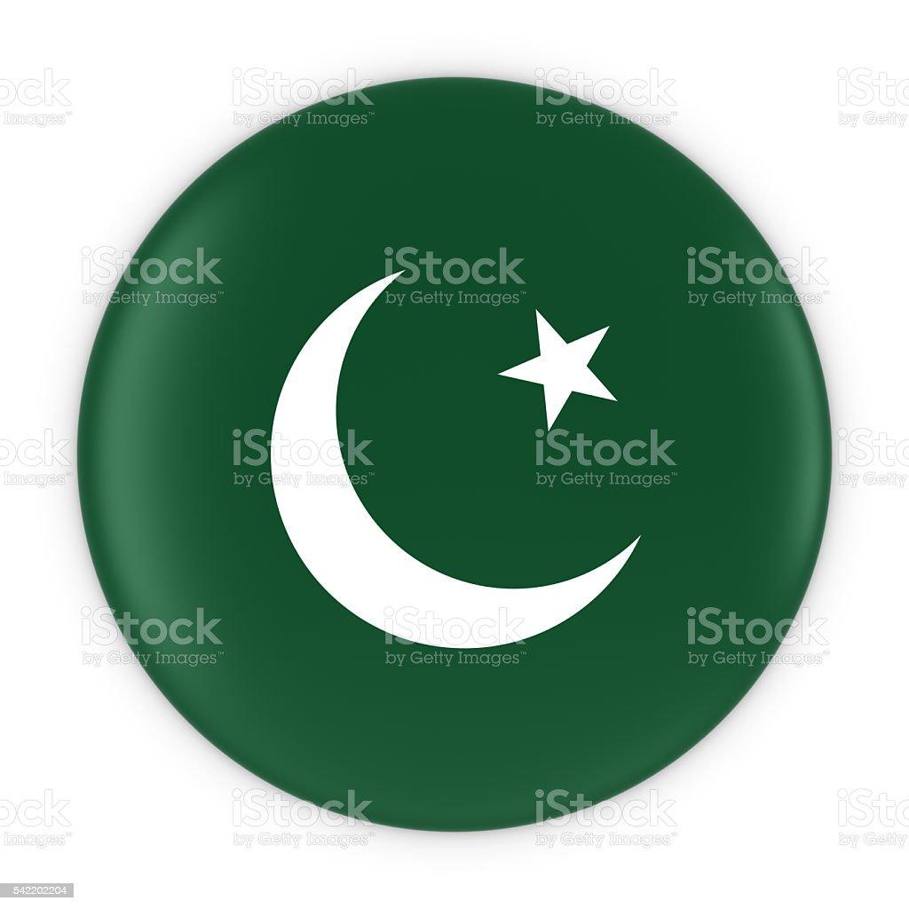 Pakistani Flag Button - Flag of Pakistan Badge 3D Illustration stock photo