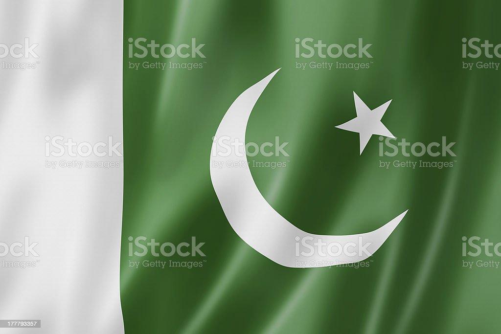 Pakistani flag speech bubble stock photo