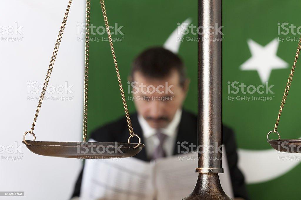Pakistani lawyer royalty-free stock photo