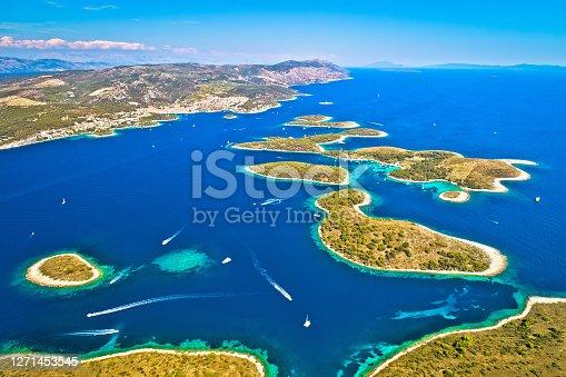 istock Pakleni otoci yachting destination arcipelago aerial view 1271453545