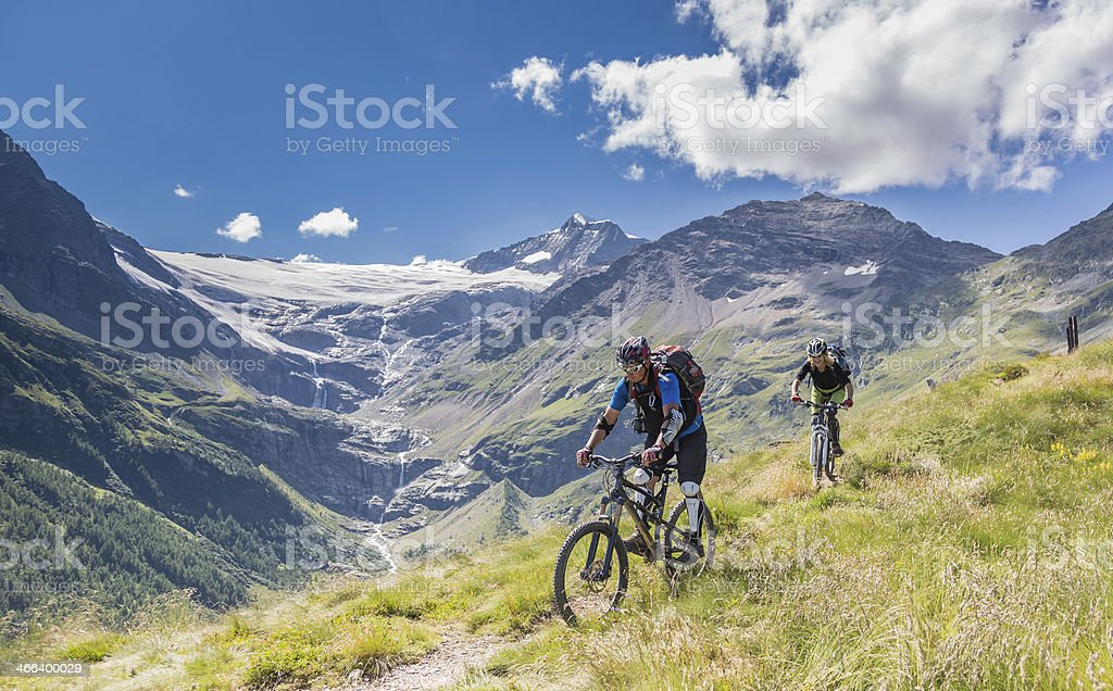 Palü Glacier Downhill, Switzerland stock photo