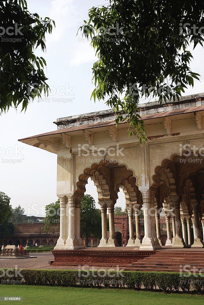 Palace Architecture exterior of Agra Fort in India royalty-free stock photo