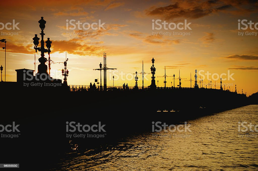 Palace Bridge,  St. Petersburg, Russia royalty-free stock photo