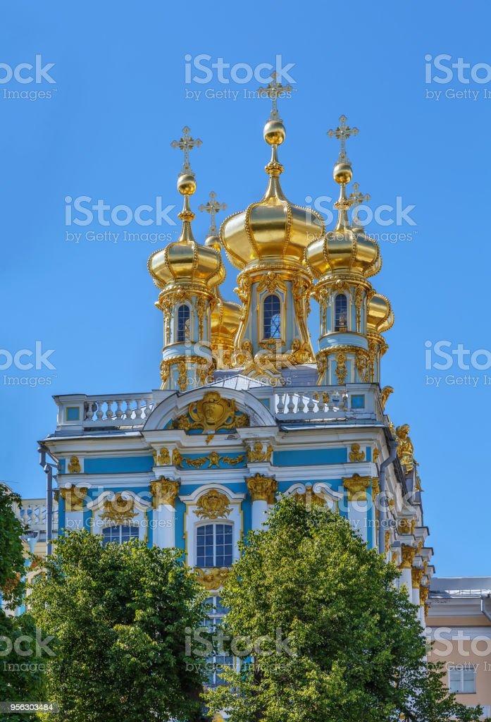 Palace Chapel, Tsarskoye Selo, Russia stock photo