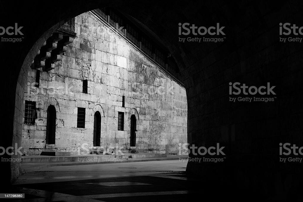 Palace courtyard stock photo