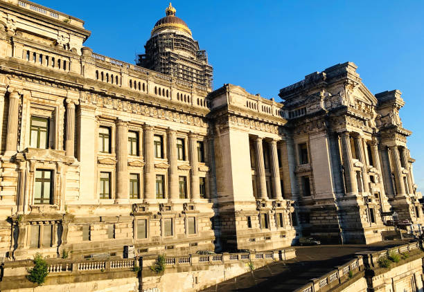 Palace de Justice in Brussels stock photo