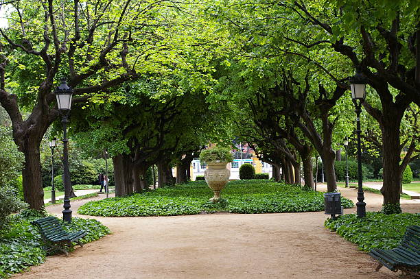Palace Gardens, Barcelona stock photo