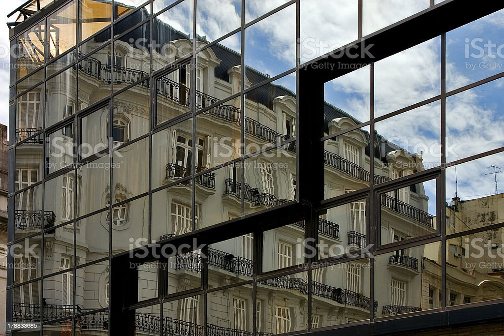 palace in a window  the centre  buenos aires royalty-free stock photo