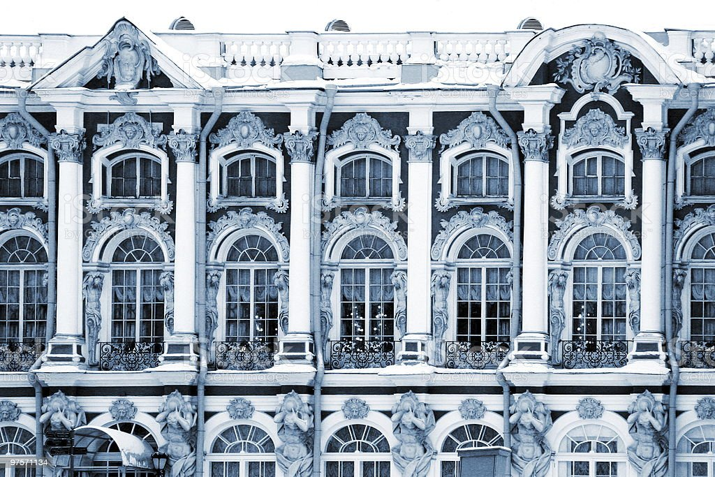 Palace in Ekaterina's garden royalty-free stock photo