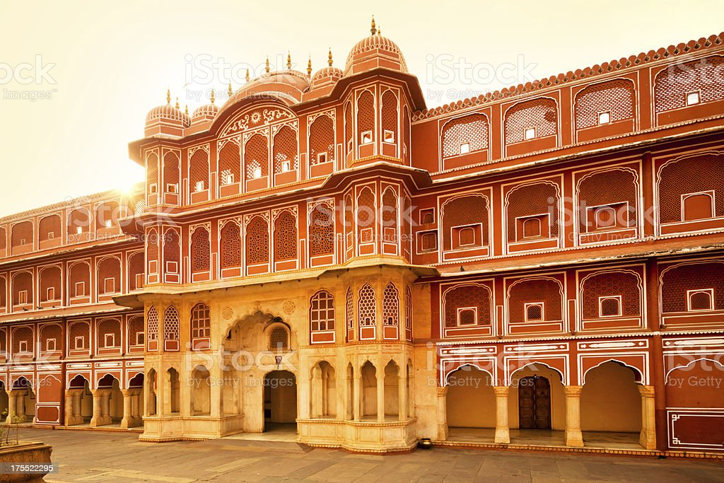 Palace in India stock photo