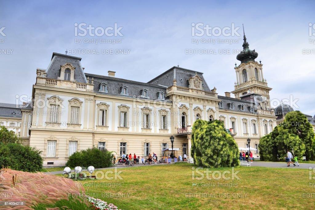 Palace in Keszthely stock photo