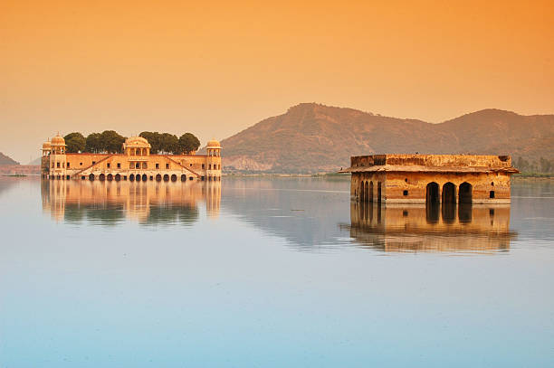 Palace in Middle of Lake. Water Reflection. Jal Mahal, India. Palace in Middle of Lake. Water Reflection. Jal Mahal, Jaipur, India. udaipur stock pictures, royalty-free photos & images