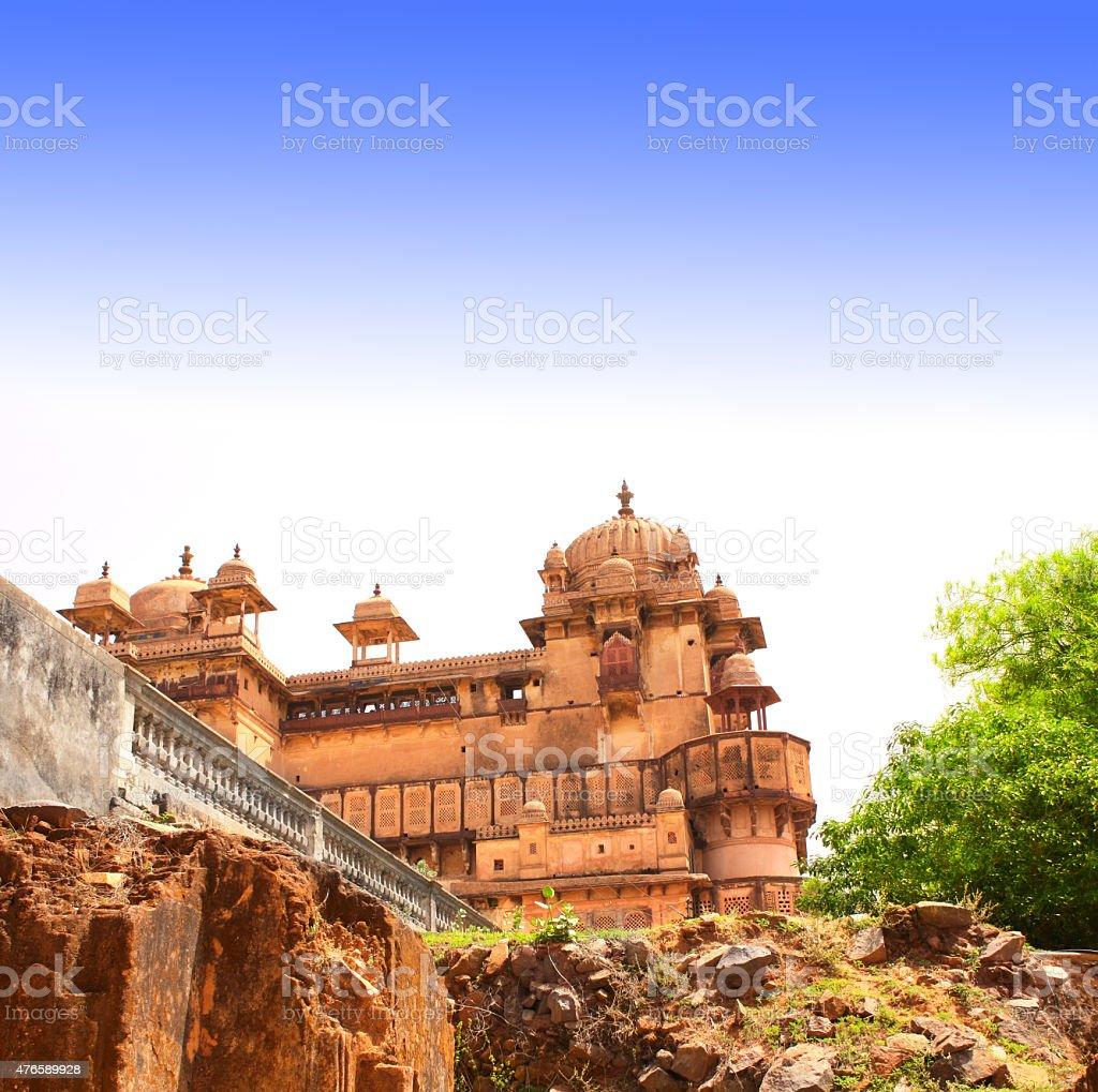 Palace in Orcha, Madhya Pradesh state, India stock photo