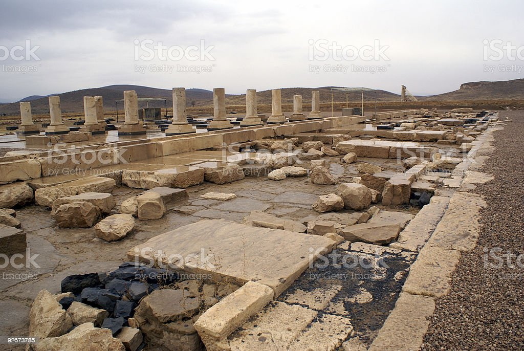 Palace in Pasargadae stock photo
