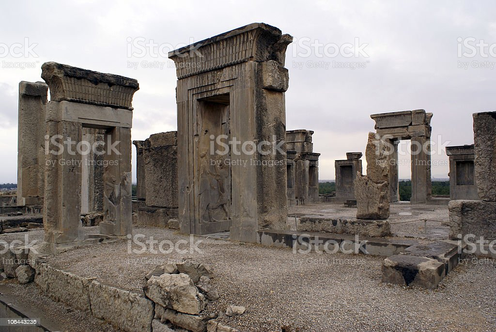 Palace in Persepolis stock photo