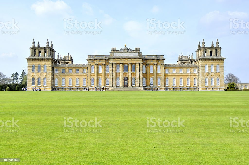 Palace in summer stock photo