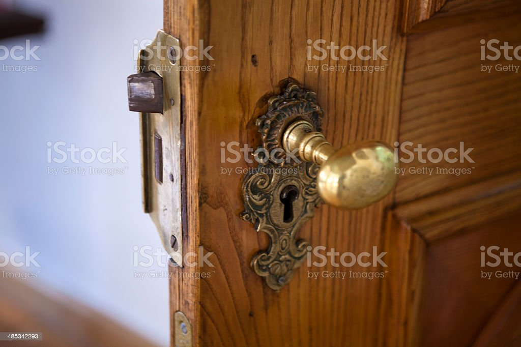 Palace lock with handle stock photo