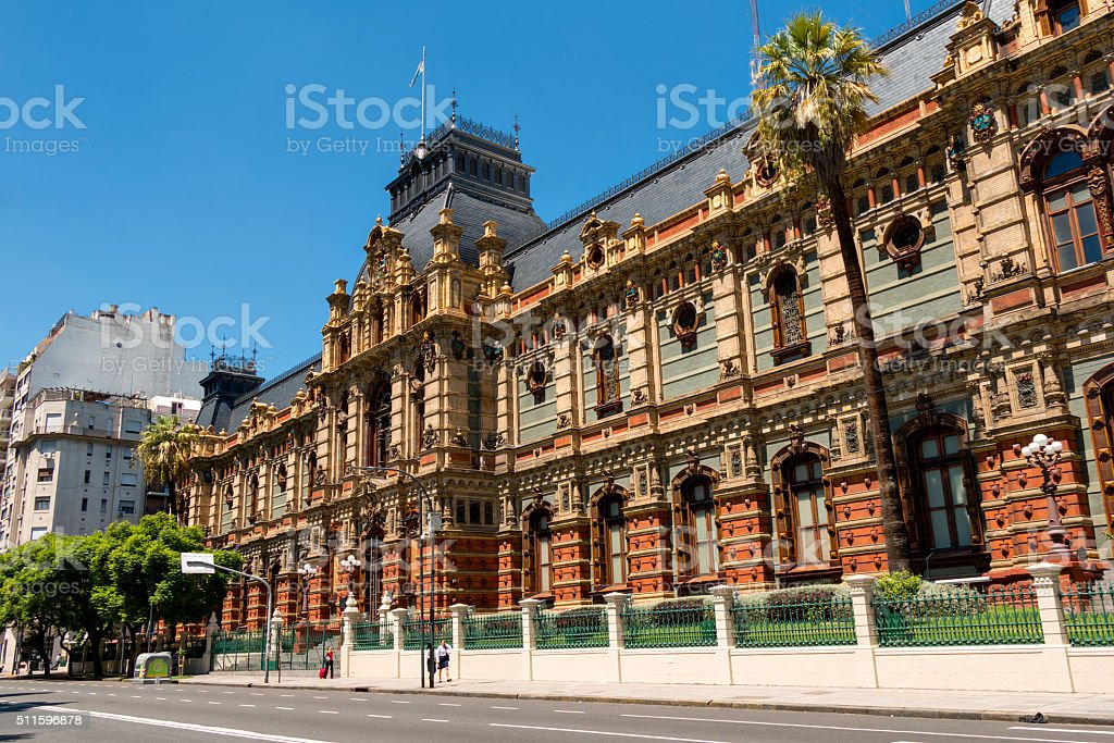 Palacio de Aguas Corrientes stock photo