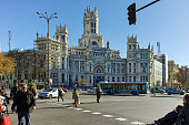 Palace of Cibeles at Cibeles square in City of Madrid, Spain