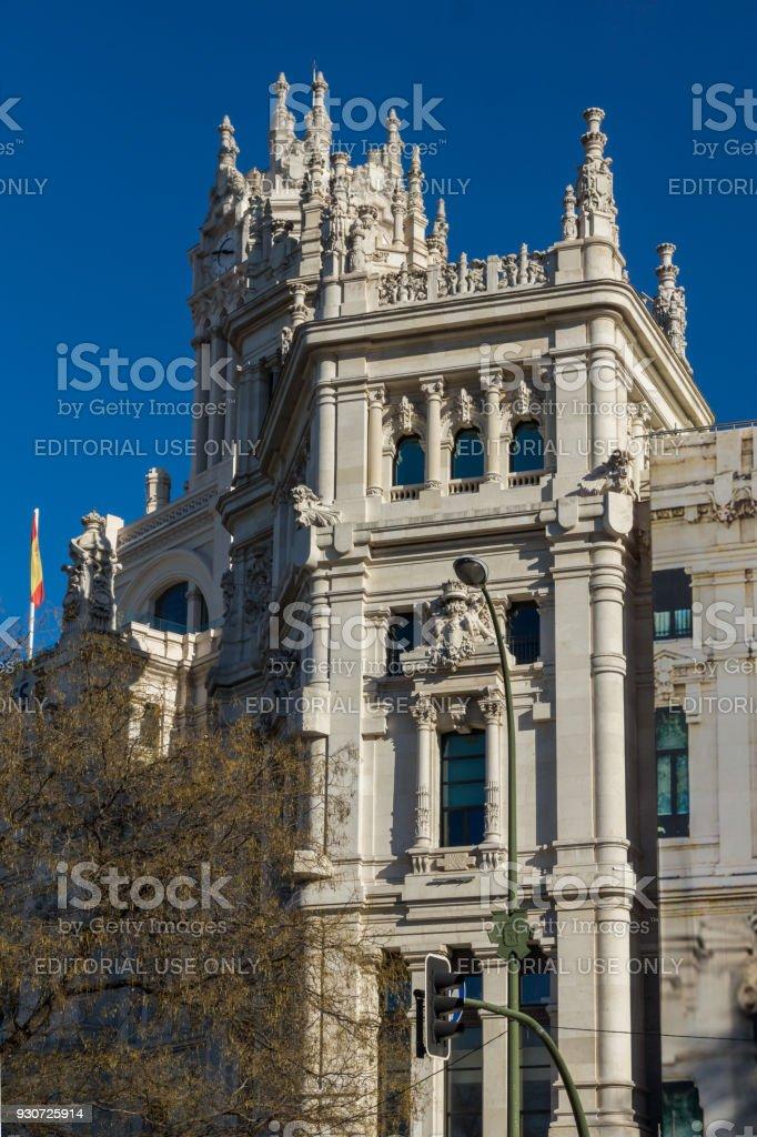 Foto De Palácio De Cibeles Na Praça De Cibeles Na Cidade De