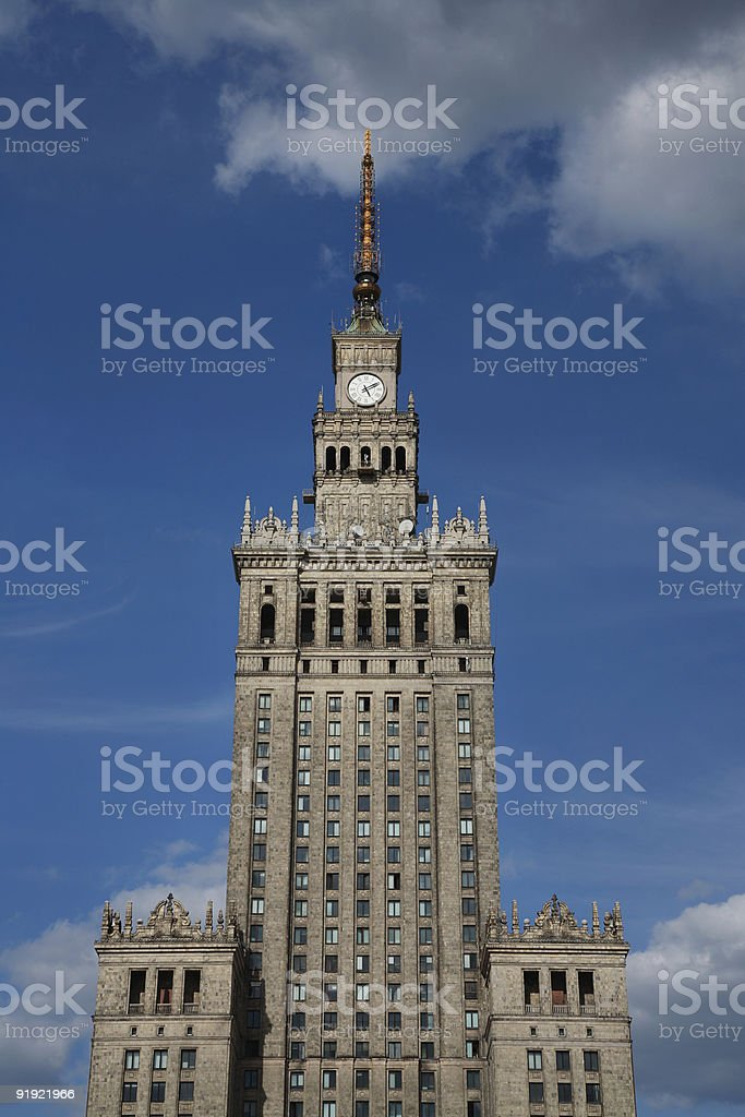 Palace of Culture and Science, Warsaw, Poland royalty-free stock photo