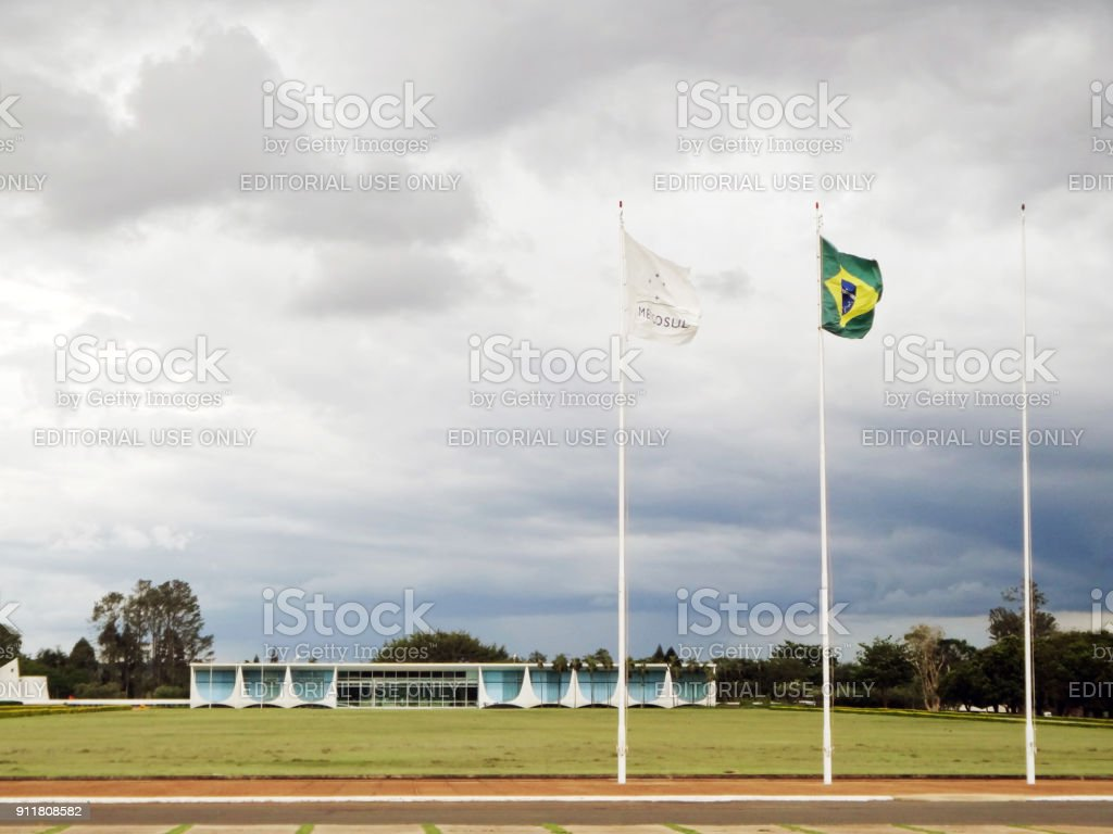 Palácio da Alvorada stock photo