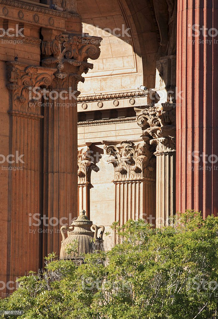 Palace of Fine Arts a San Francisco landmark royalty-free stock photo