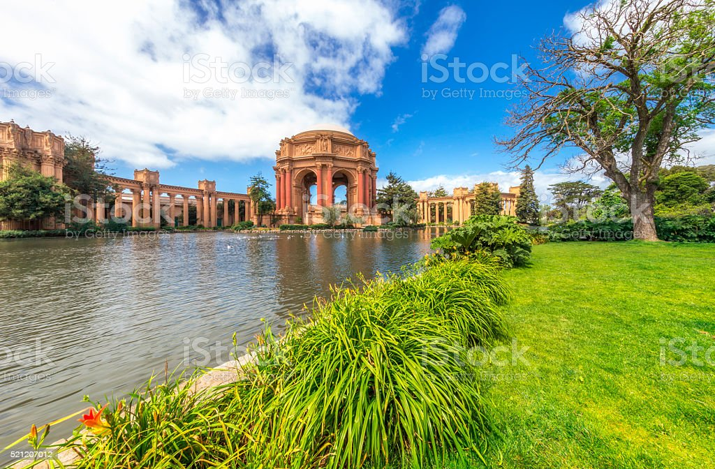 Palace of fine Arts at San Francisco stock photo