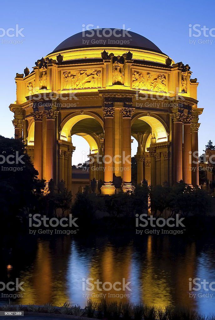 Palace of Fine Arts in San Francisco royalty-free stock photo