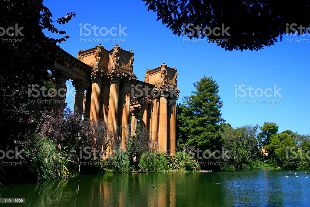 Palace of Fine Arts, San Francisco royalty-free stock photo