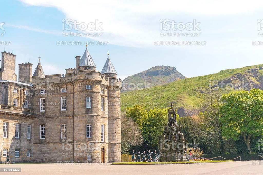 Palace of Holyrood house stock photo