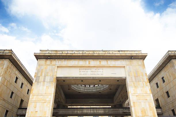 Palace of justice at Bogotá. stock photo
