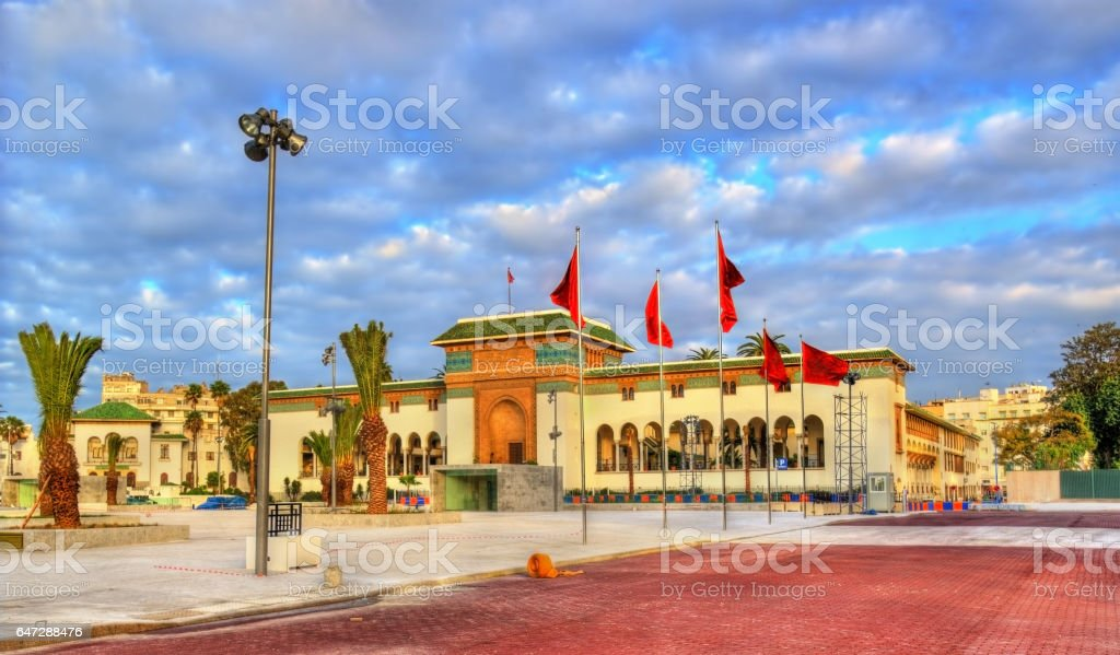 Palace of Justice on Mohammed V Square in Casablanca, Morocco stock photo