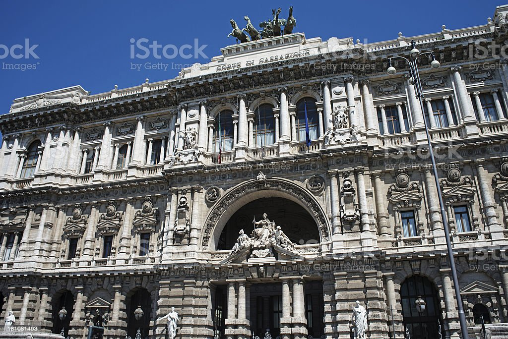Palace of Justice, Rome stock photo