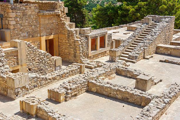 Palace of Knossos. Crete, Greece stock photo