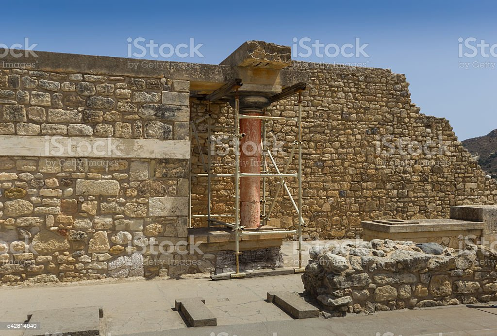 Palace of Knossos, Crete, Greece stock photo