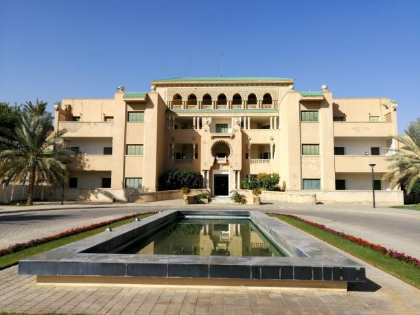 A palace of late King Faisal in the Alfaisal University campus stock photo
