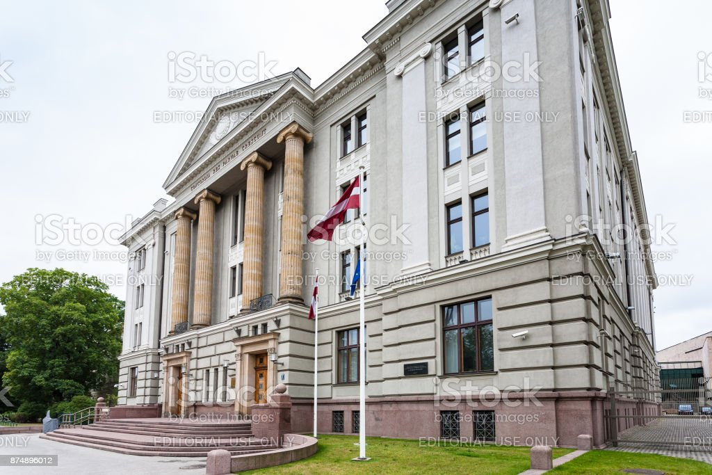 palace of Ministry of Foreign Affairs of Latvia stock photo